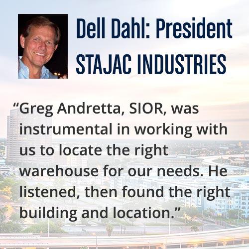 Dell Dahl Testimonial of Andretta Properties